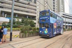 Double-decker tramway Stock Photo