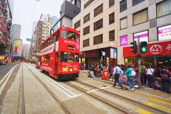 Double-decker tramway Royalty Free Stock Images