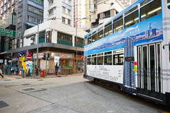 Double-decker tramway Royalty Free Stock Image