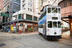 Double-decker tramway Stock Photos