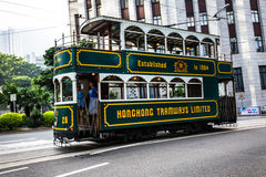 Double-decker tramway Royalty Free Stock Photo