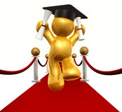 Double Degree Graduation Icon Figure Stock Photography