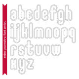 Double delicate line retro characters set, vector lowercase Royalty Free Stock Photos