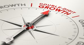 Free Double-Digit Growth Rate. Annual Results Concept Royalty Free Stock Images - 159453519