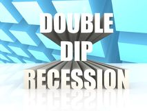 Double dip recession Stock Image