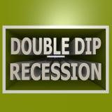 Double dip recession Stock Photos