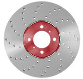 Double disc brake rotor. Separated on white Royalty Free Stock Photography