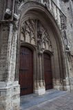 Double door of cathedral in Ghent Royalty Free Stock Photography