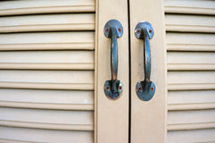 Double door handles Stock Photos