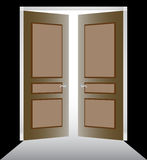 Double Door with Molding Stock Photo