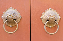 Double doorknob on background Royalty Free Stock Photos