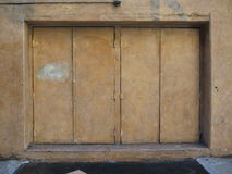 Double Doors. At a building entrance Royalty Free Stock Image
