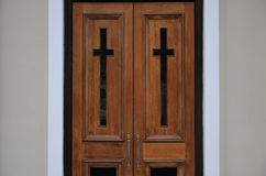 Double doors to a church Royalty Free Stock Photography