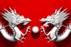 Double Dragon Royalty Free Stock Photo