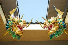 Double dragon head. Stock Photography