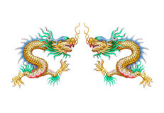 Double Dragon Stock Image