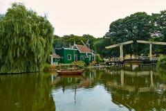 Double drawbridge in Arnhem. Netherlands July royalty free stock photo