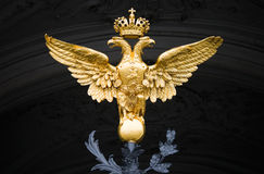 Double Eagle - Emblem of Russia. On the gate of Winter Palace in Saint-Petersburg stock photos