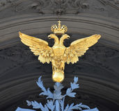 Double eagle. Russia, Saint-Petersburg. Double eagle on the gate of Winter Palace royalty free stock image