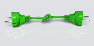 Double ecological plug is knotted Royalty Free Stock Image