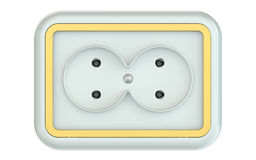 Double electric socket Stock Photography