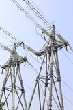 Double electric towers Royalty Free Stock Image