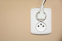 Double electrical socket with plug Royalty Free Stock Image