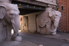 Gate of double elephants. At Carlsberg Brewery Royalty Free Stock Photography