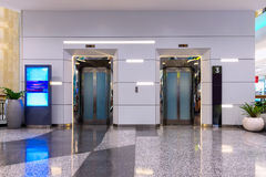 Double elevators in department Stock Photography