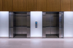 Double elevators in department Royalty Free Stock Photo