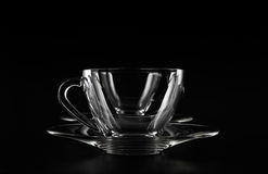 Double empty glass cups Royalty Free Stock Photo