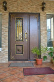 Double entrance door Stock Photo