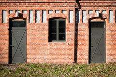Double entrance in old factory Stock Photos