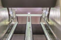 Double escalator Stock Image