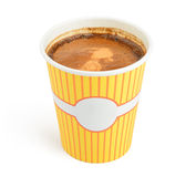 Double espresso in a disposable cup Royalty Free Stock Photography