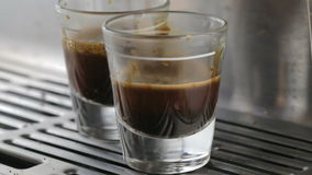 Double Espresso Extraction stock footage