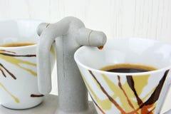 Double espresso maker Stock Photo