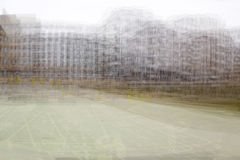 Double exposure background of houses stock image