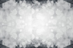 Double exposure of bokeh light and black and white Low Poly tran Stock Photo