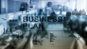 Double exposure Business plan and strategy concept.  stock photography