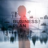 Double exposure Business plan and strategy concept. royalty free stock images