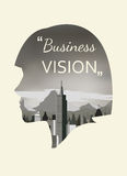 Double exposure  for business vision Royalty Free Stock Image