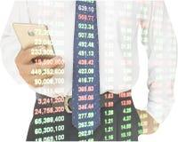 Double exposure businessman Stock Image