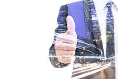 Double exposure businessperson Royalty Free Stock Photos
