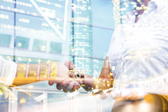 Double exposure businessperson. Double exposure concept with businessperson Stock Images