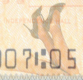 Double exposure female legs and high heels with American dollar background Stock Photo