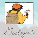Double Exposure Geologist Working Stock Photos
