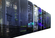 Double exposure mainframe with road traffic isolate Stock Image