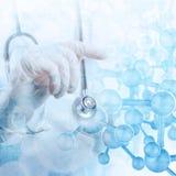 Double exposure of Medicine doctor Stock Image