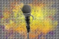 Double Exposure Microphone.The Future Ideas Royalty Free Stock Photography